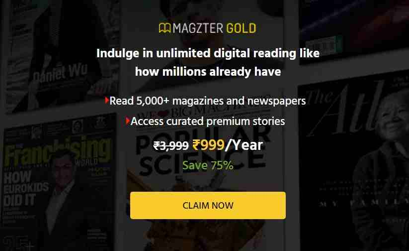 Magzter gold 999 offer