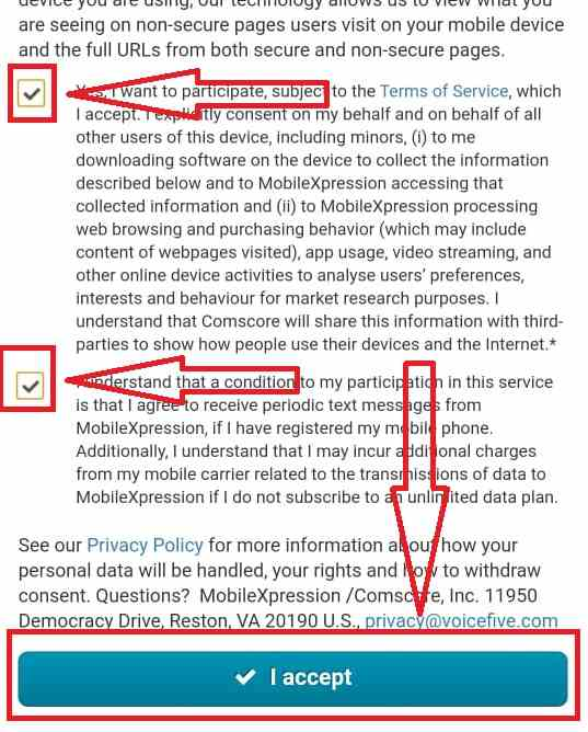 Mobilexpression Confirmation